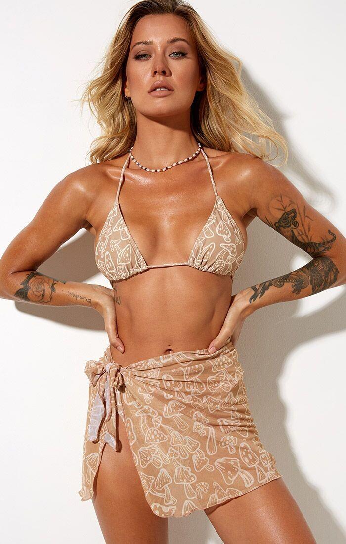 Mushroom Triangle Bikini Top