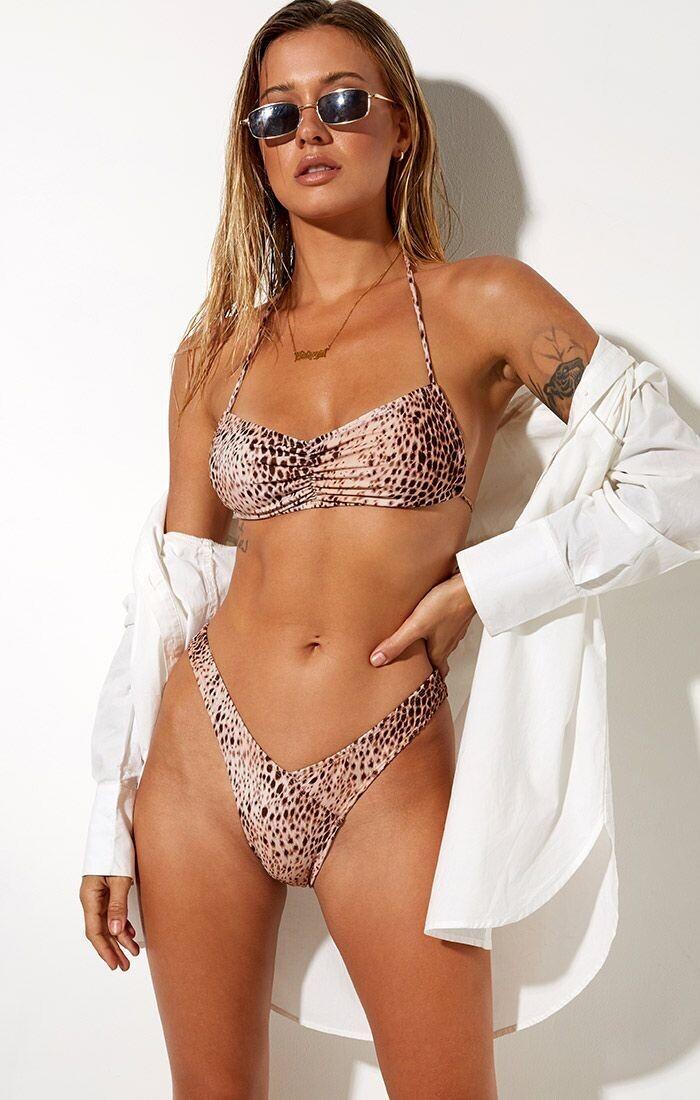 Sand Leopard Bikini Top