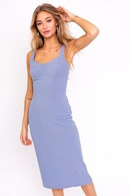 Baby Blue Under Seam Knit Dress