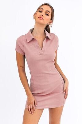 Blush Collared Tennis Dress