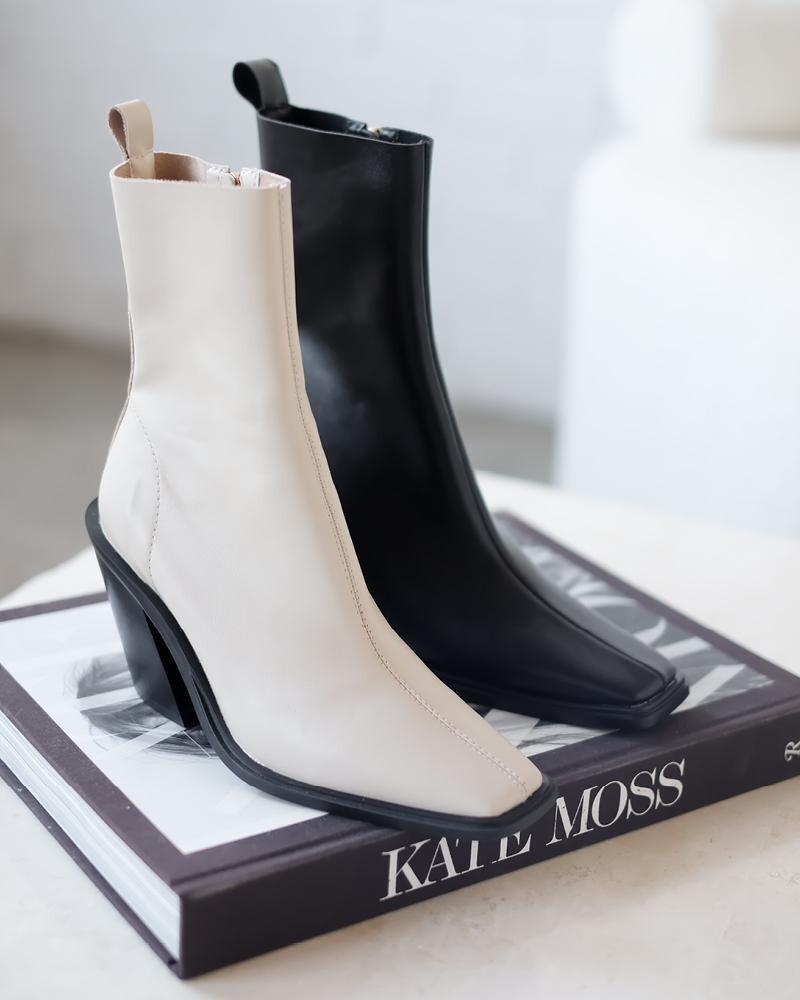 Ivory Western Heeled Boot