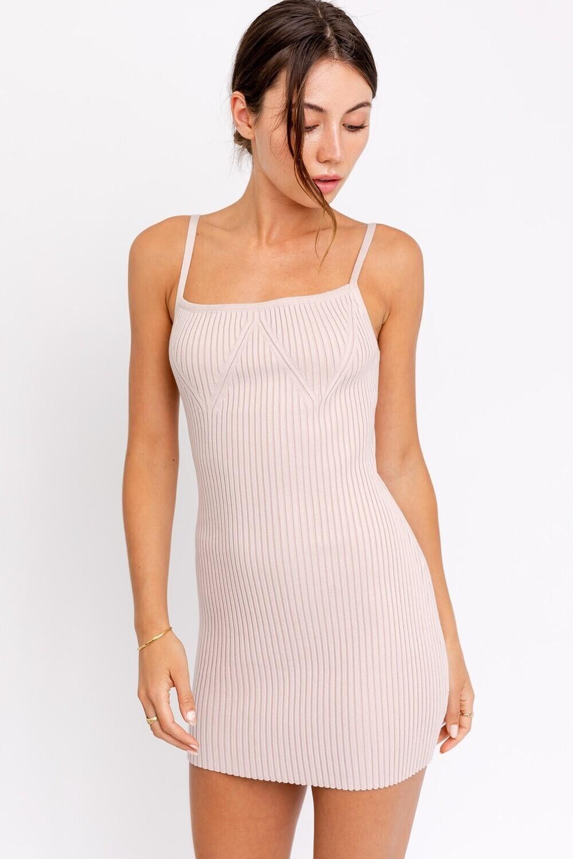 Blush Knit Sweater Dress