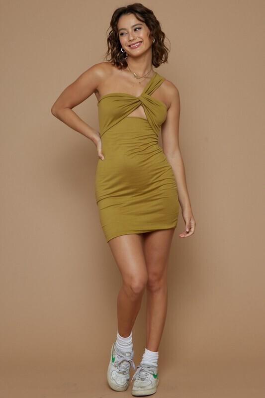 Moss Twist Detail Reversible Dress