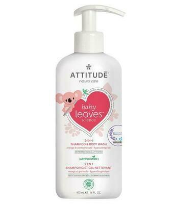 Shampoo & gel de baño Attitude - Naranja y granada