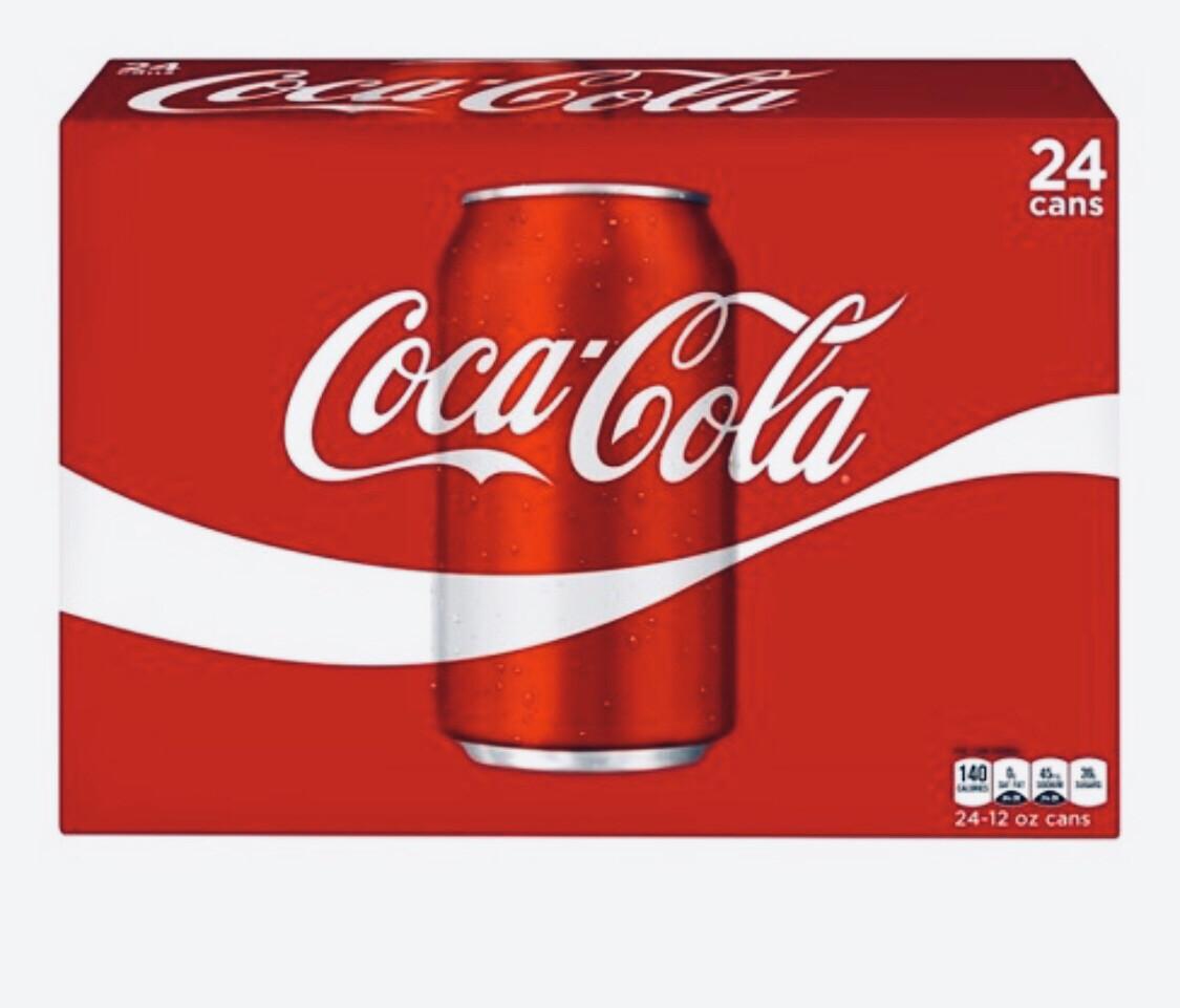 Coke  Soda Coke Classic Cube Pack 24/12oz cans
