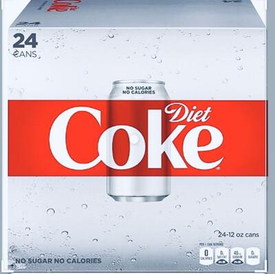 Diet Coke  Cube Pack 24/12 oz
