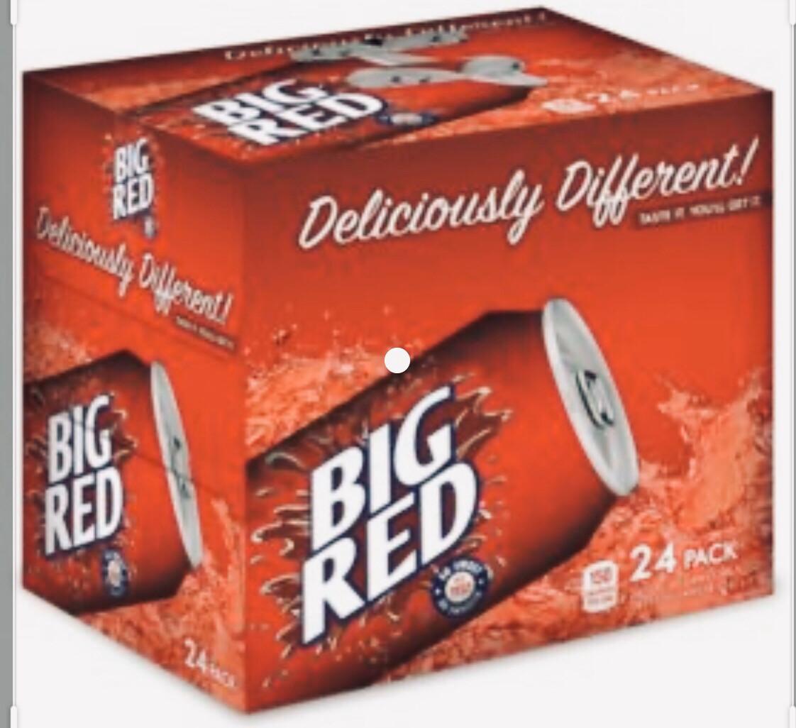 Big Red  Soda Big Red Cans  24/12oz