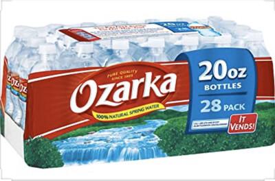 Ozarka  Water Spring 20oz  28 Ct  cs