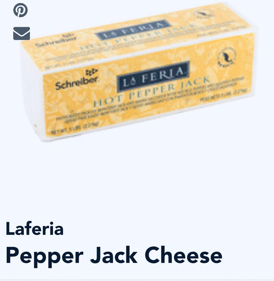 La Féria Pepper Jack Hot 1 5 Lb Block