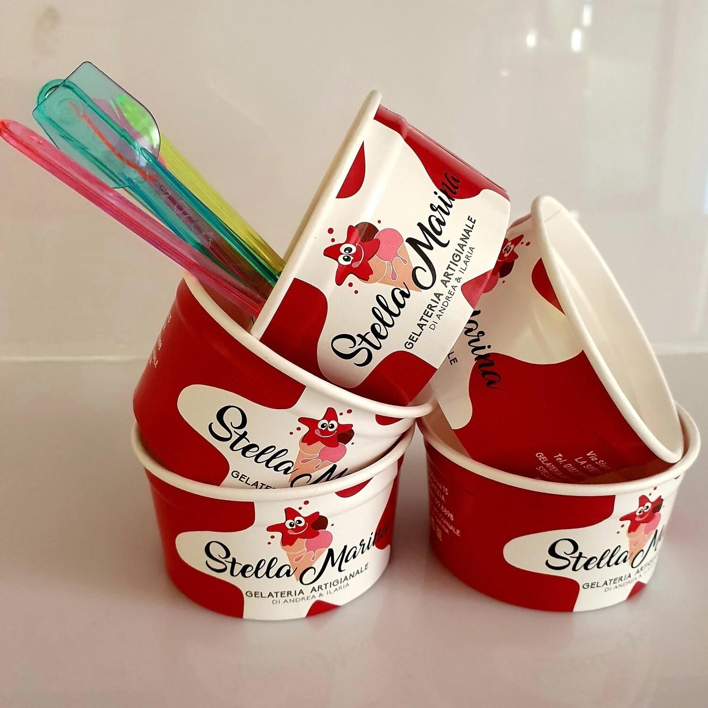 Confezione da 5 coppette per gelato