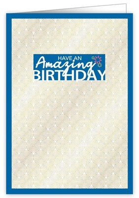 "CARTE DE VŒUX ""HAVE AN AMAZING BIRTHDAY"""