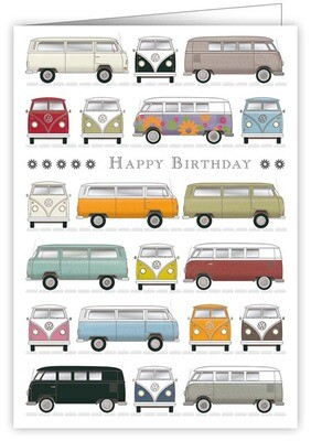 "CARTE DE VŒUX ""HAPPY BIRTHDAY VANS"""