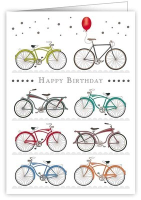"CARTE DE VŒUX ""HAPPY BIRTHDAY BIKES"""