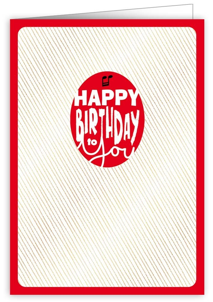 "CARTE DE VŒUX ""HAPPY BIRTHDAY TO YOU"""
