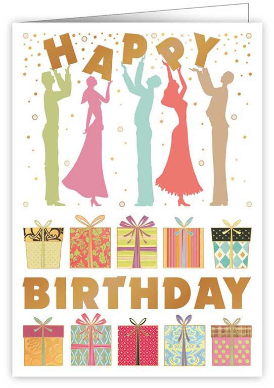 "CARTE DE VŒUX ""HAPPY BIRTHDAY GIFTS"""