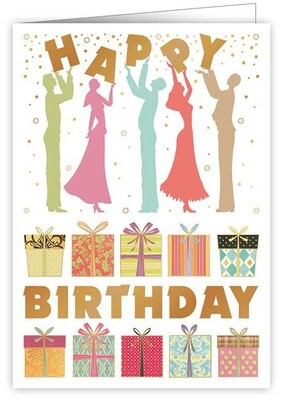 "CARTE DE VŒUX ""HAPPY BIRTHDAY GIFTS"""
