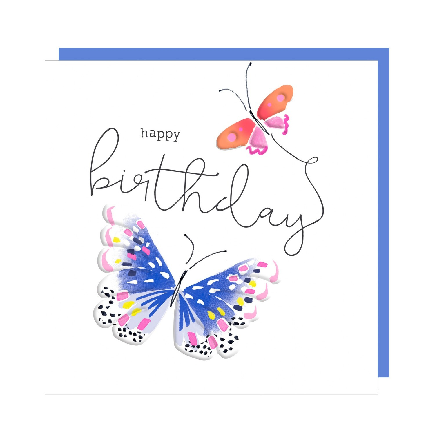 "CARTE DE VŒUX ""HAPPY BIRTHDAY BUTTERFLY"""