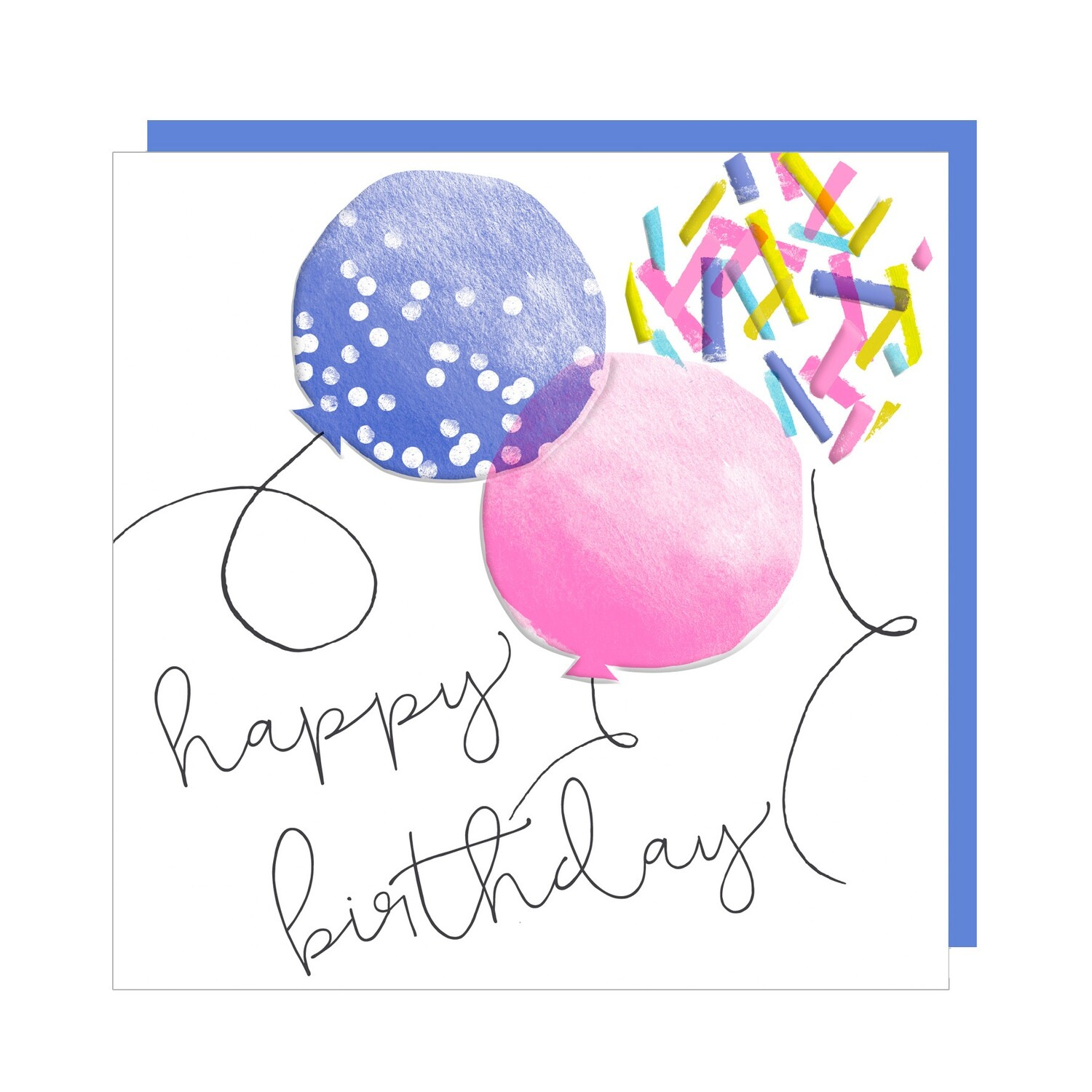 "CARTE DE VŒUX ""HAPPY BIRTHDAY BALLOONS"""