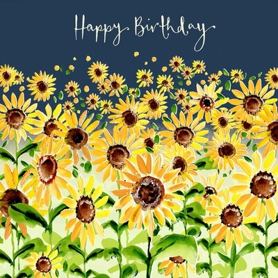 "CARTE DE VŒUX ""HAPPY BIRTHDAY TOURNESOLS"""