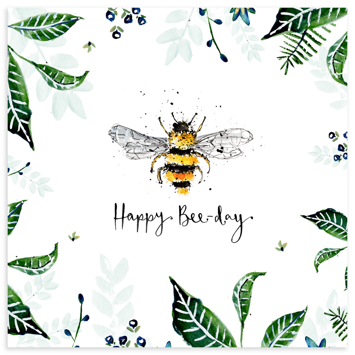 "CARTE DE VŒUX ""HAPPY BEE-DAY"""