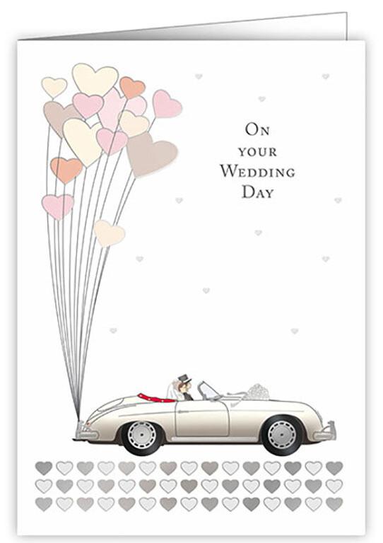 "CARTE DE VŒUX ""ON YOUR WEDDING DAY"""