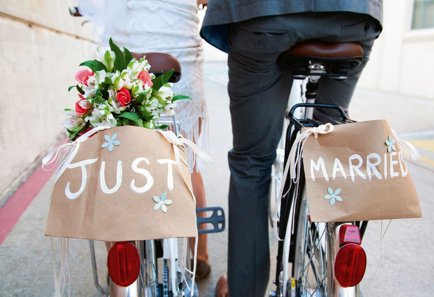 "CARTE DOUBLE ""JUST MARRIED"""