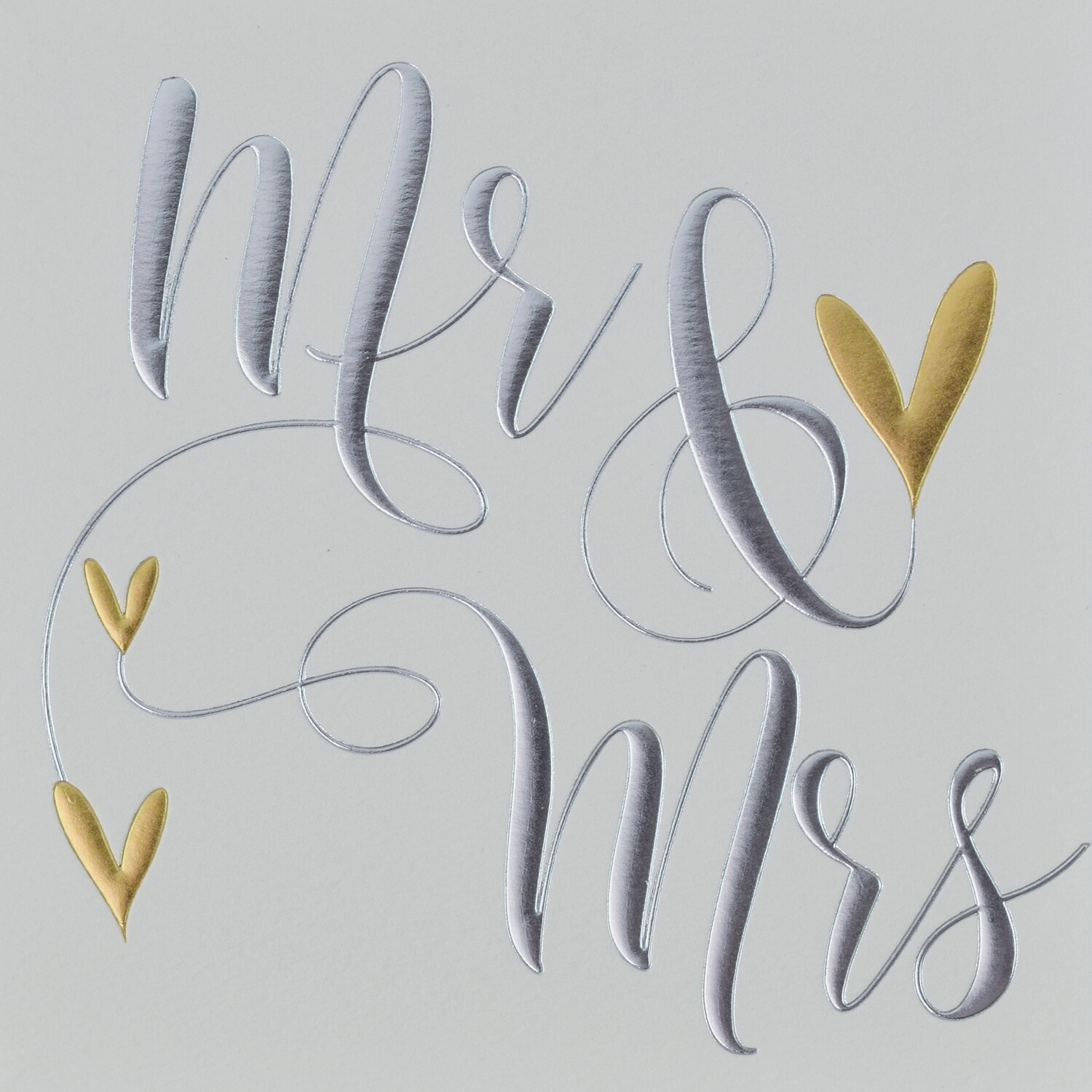 "CARTE DE VŒUX ""MR & MRS"""