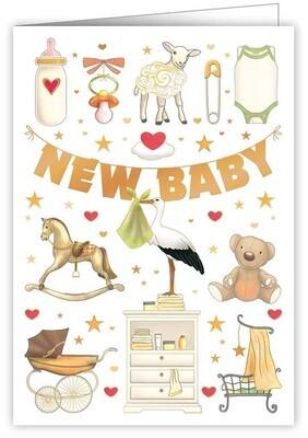 "CARTE DE VŒUX ""NEW BABY"""