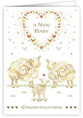 "CARTE DE VŒUX ""A NEW BABY CONGRATULATIONS"""