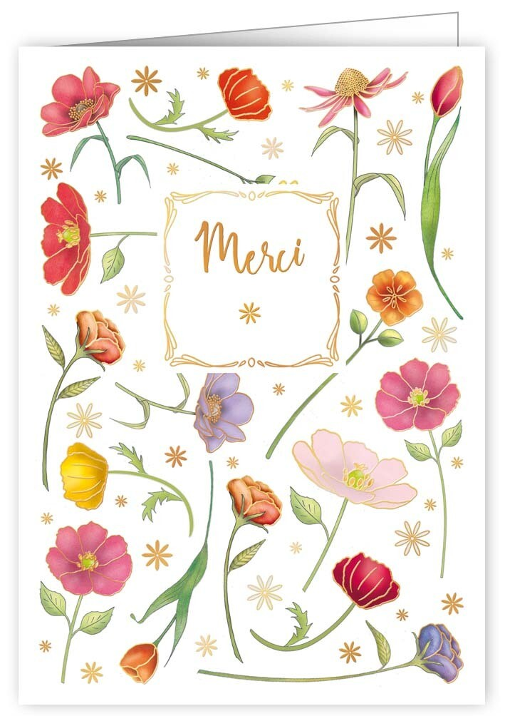 "CARTE DE VŒUX ""MERCI"""