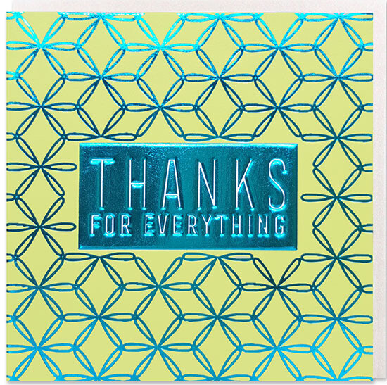 "CARTE DE VŒUX ""THANKS FOR EVERYTHING"""