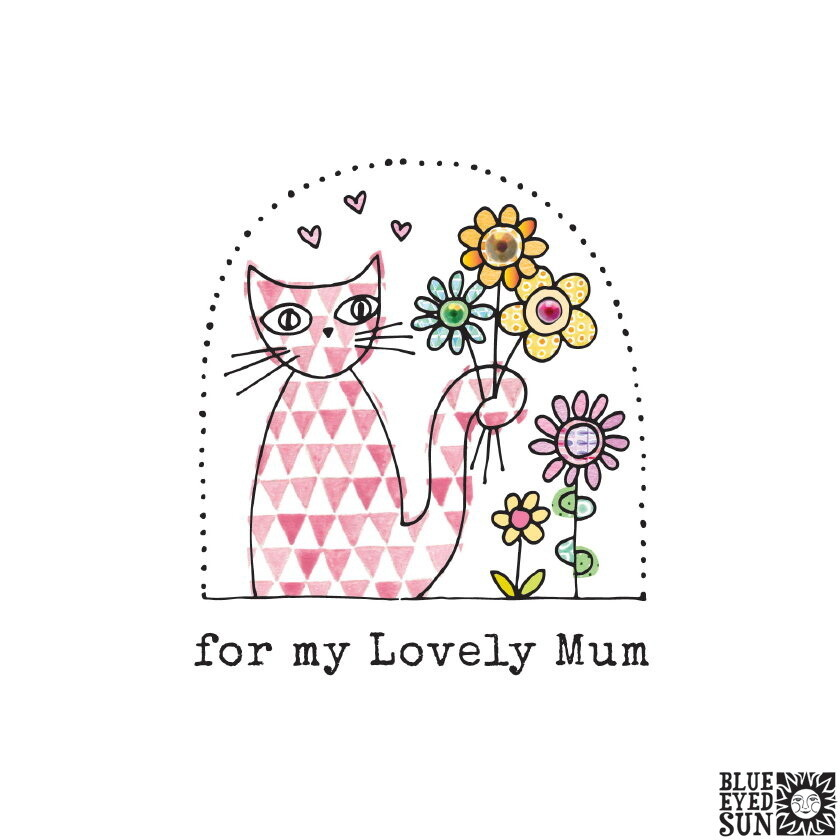 "CARTE DE VŒUX ""FOR MY LOVELY MUM"""