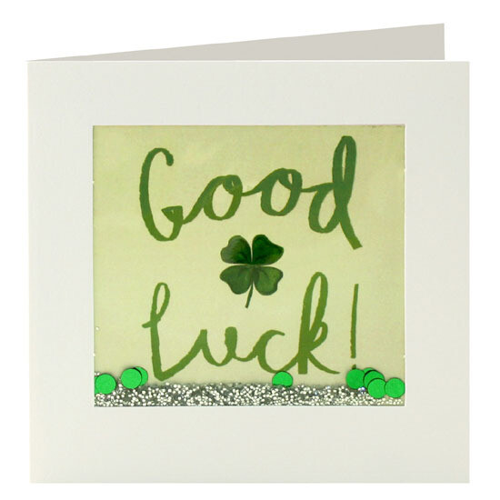 "CARTE DE VŒUX ""GOOD LUCK!"""
