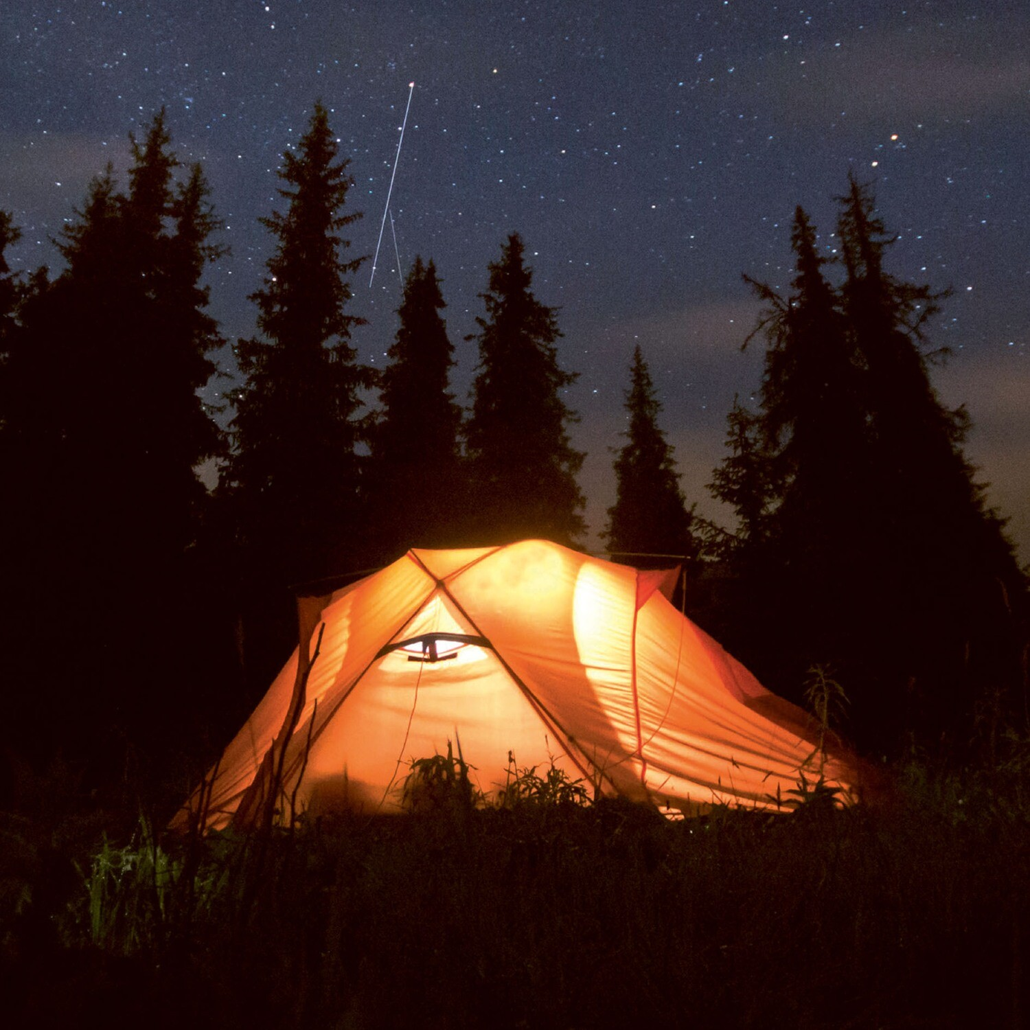 "CARTE DOUBLE PHOTO ""CAMPING"""