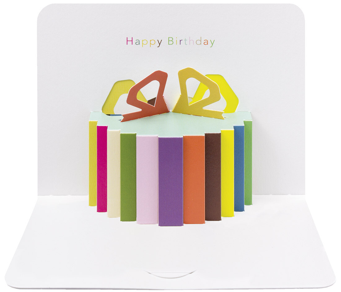 "CARTE DE VŒUX 3D ""HAPPY BIRTHDAY"""