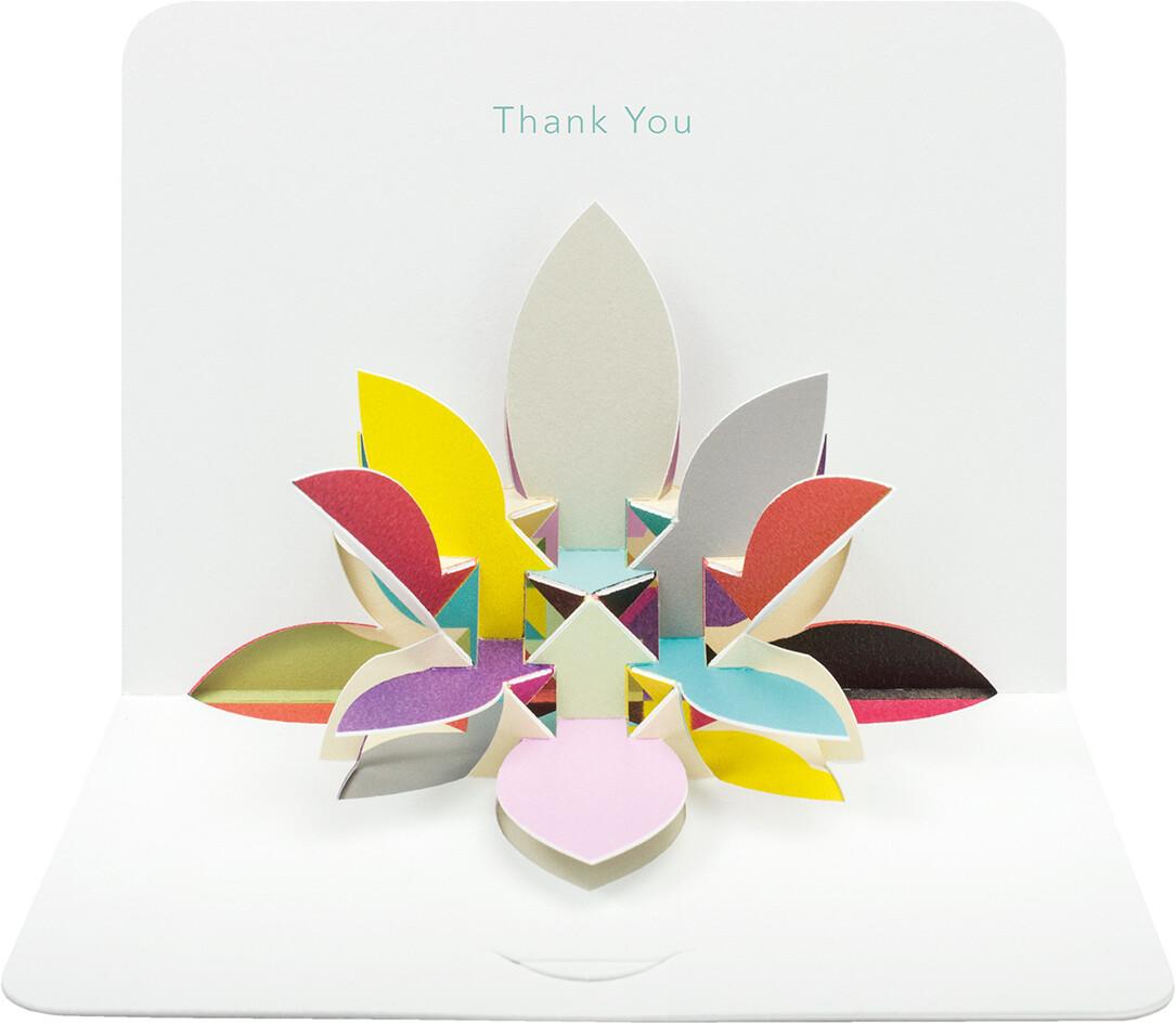 "CARTE DE VŒUX 3D ""THANK YOU"""