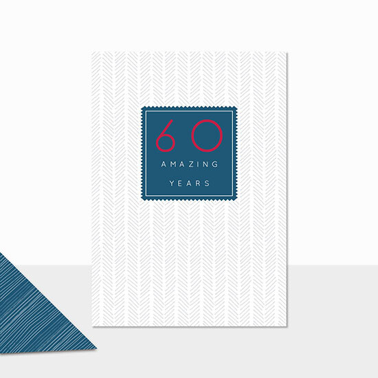 "CARTE DE VŒUX ""60 AMAZING YEARS"""