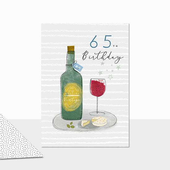 """CARTE DE VŒUX """"65TH BIRTHDAY"""""""