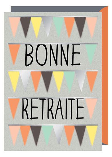 """CARTE DE VŒUX """"BONNE RETRAITE"""""""
