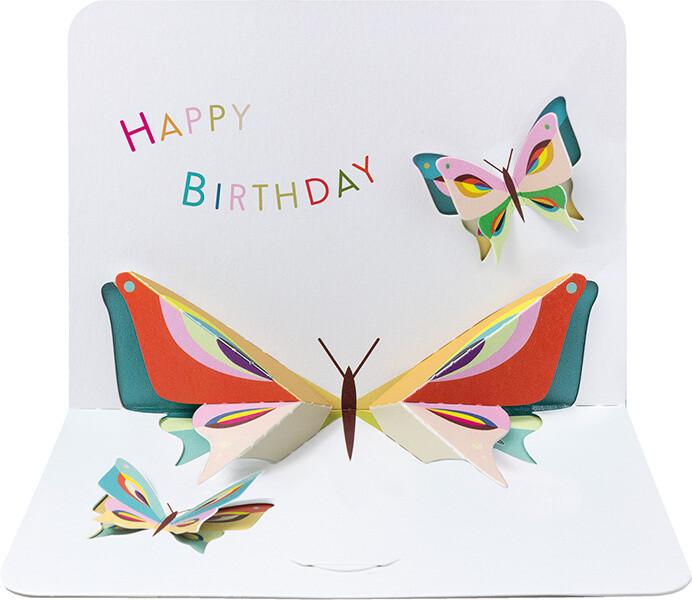 """CARTE DE VŒUX 3D """"HAPPY BIRTHDAY"""""""