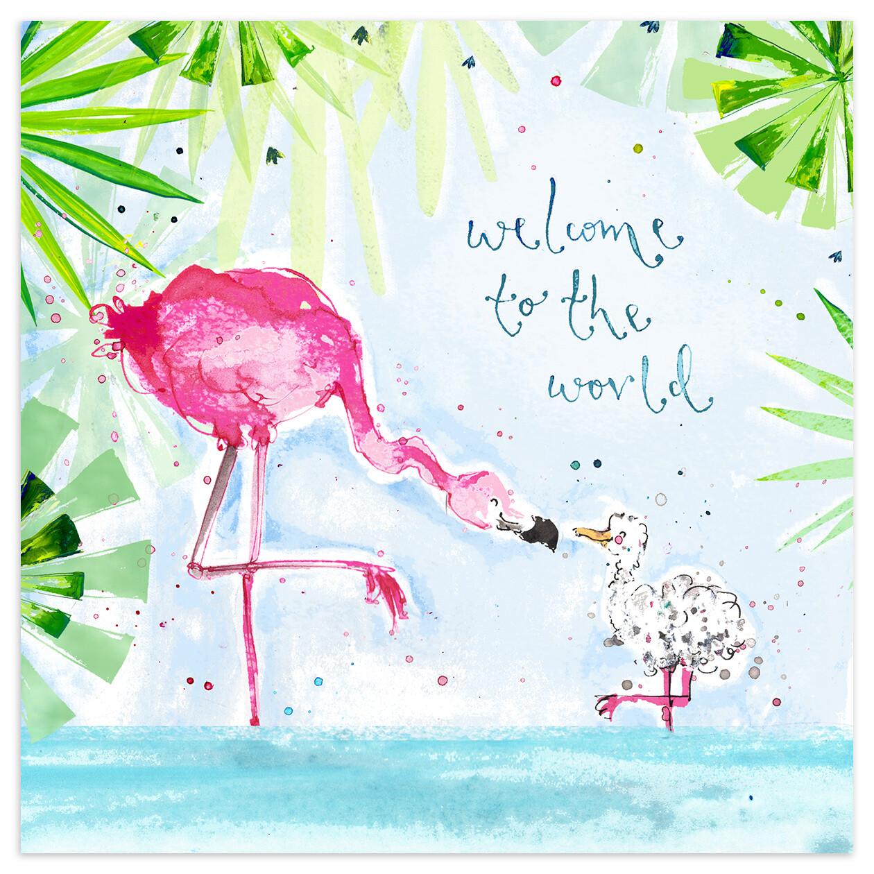 "CARTE DE VŒUX ""WELCOME TO THE WORLD"""