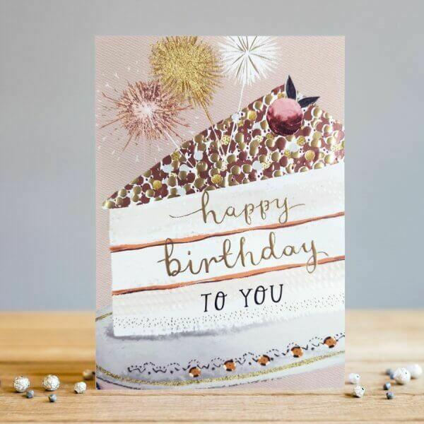 "CARTE DE VŒUX ""HAPPY BIRTHDAY TO YOU"""