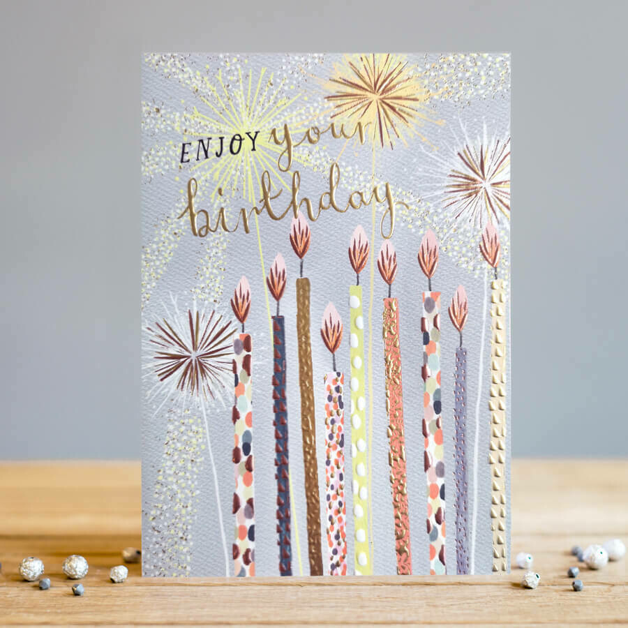 "CARTE DE VŒUX ""ENJOY YOUR BIRTHDAY"""