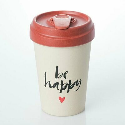 """BAMBOO CUP """"BE HAPPY"""""""