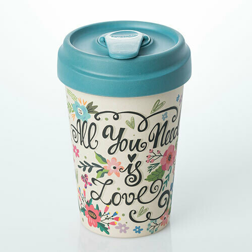 "BAMBOO CUP ""ALL YOU NEED IS LOVE"""