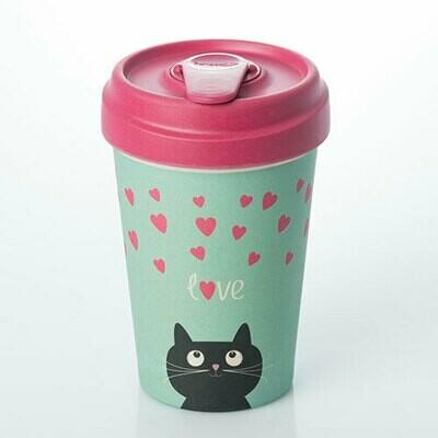 "BAMBOO CUP ""KITTY LOVE"""