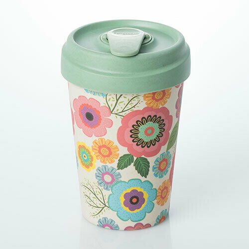 "BAMBOO CUP ""FLOWER POWER"""