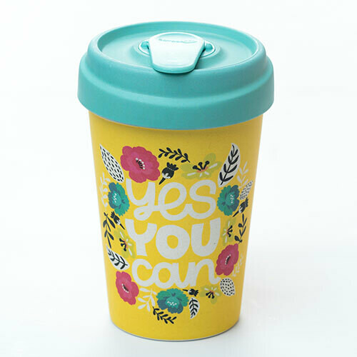 "BAMBOO CUP ""YES YOU CAN"""