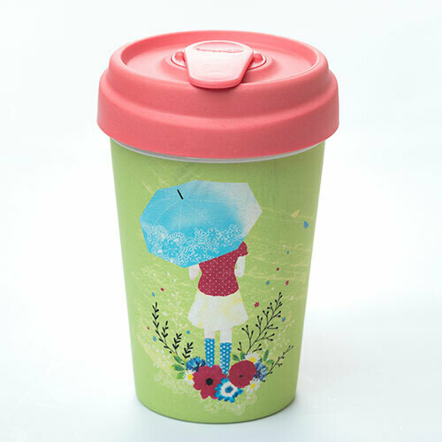 "BAMBOO CUP ""GIRL AND UMBRELLA"""