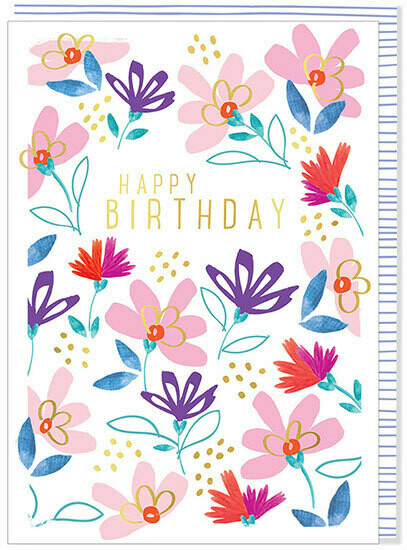 "CARTE DE VŒUX ""HAPPY BIRTHDAY"""